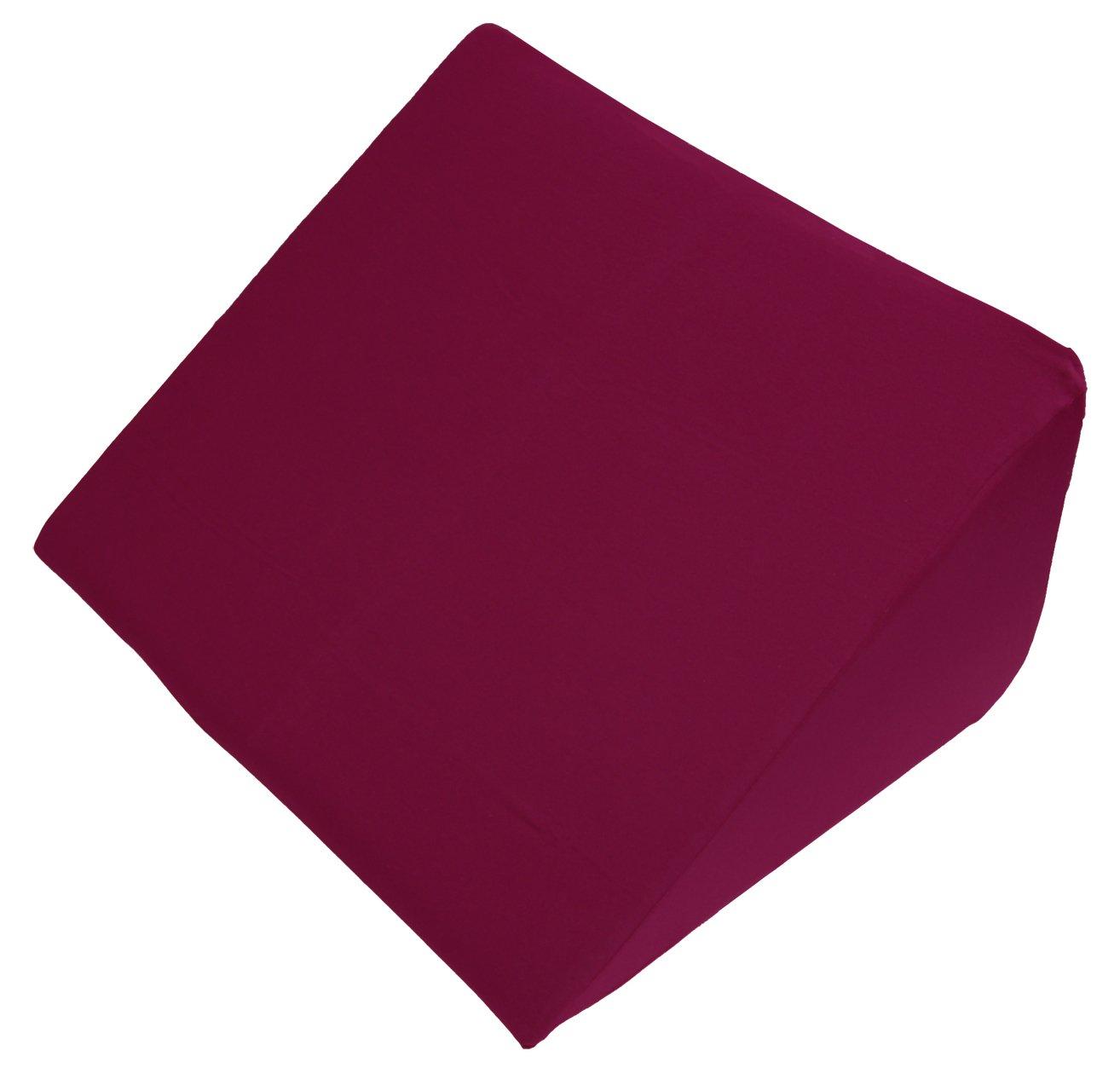 Beties Big Comfy Q2 Keilkissen extra groß + Baumwoll Jersey Bezug ca. 62x49x30 cm in vielen bunten Farben (Bordeaux)