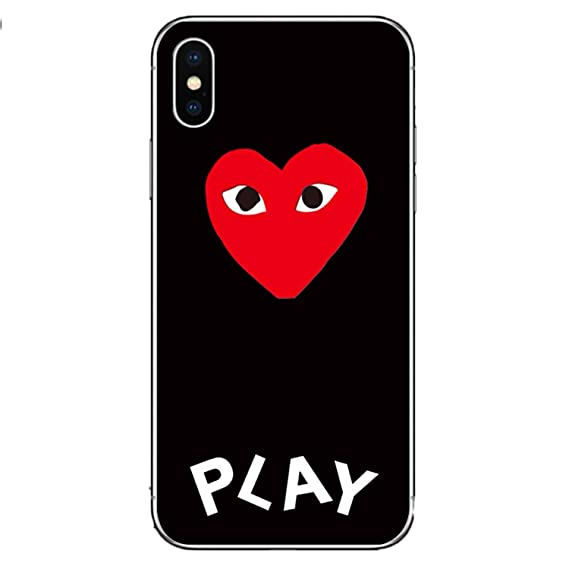 release date: 8879f 50188 Amazon.com: CDG Play Comme Des Garcons Case Cover for iPhone ...