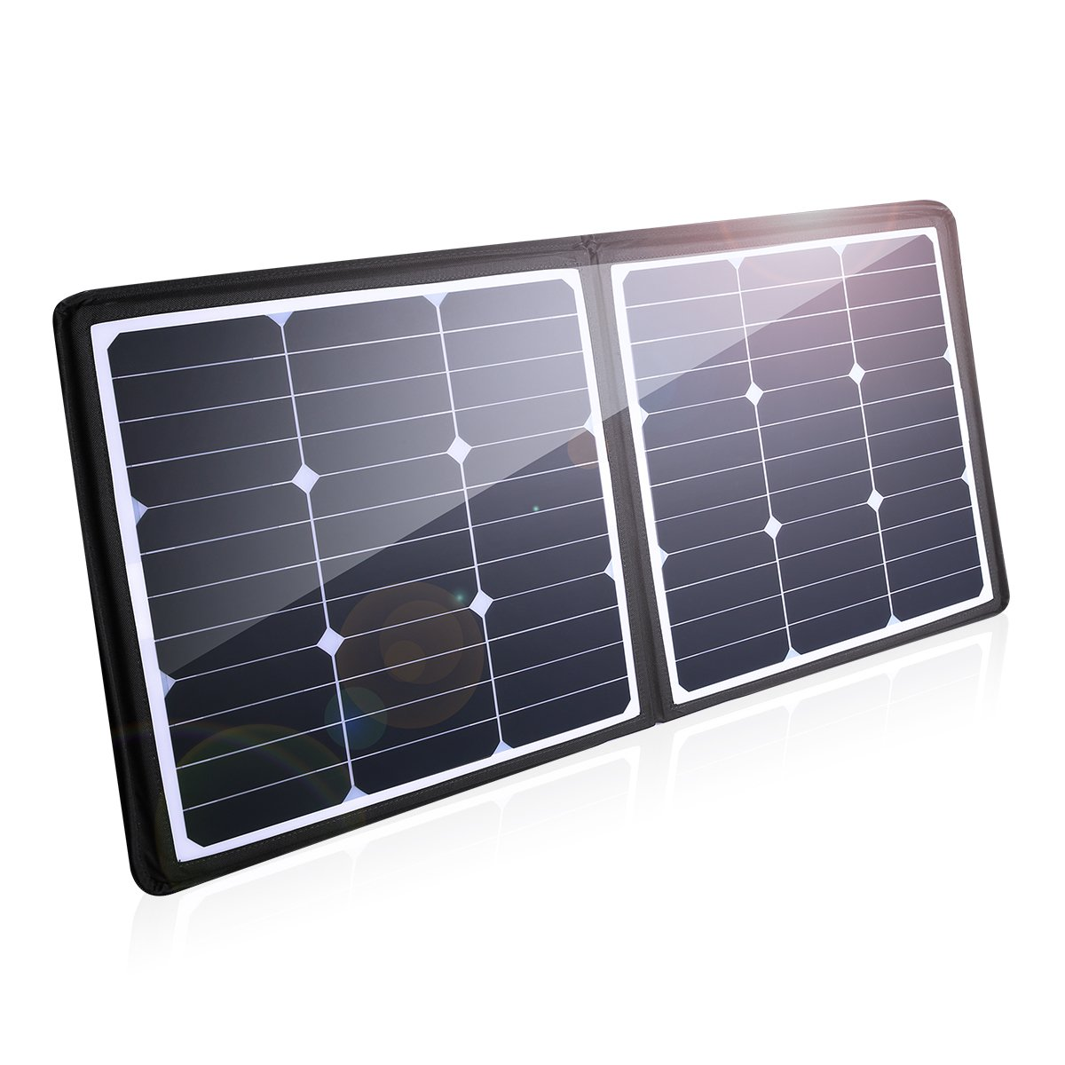 POWERADD [High Efficiency] 50W Solar Charger, 18V 12V SUNPOWER Solar Panel for Laptop, iPhone X / 8/8 Plus, iPad Pro, iPad mini, Macbook, iPad Samsung, ChargerCenter, Island Region and Country Tours