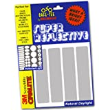 Safe-Tee SILVER / WHITE Reflective MOTORCYCLE HELMET Stickers - Complies with French Law