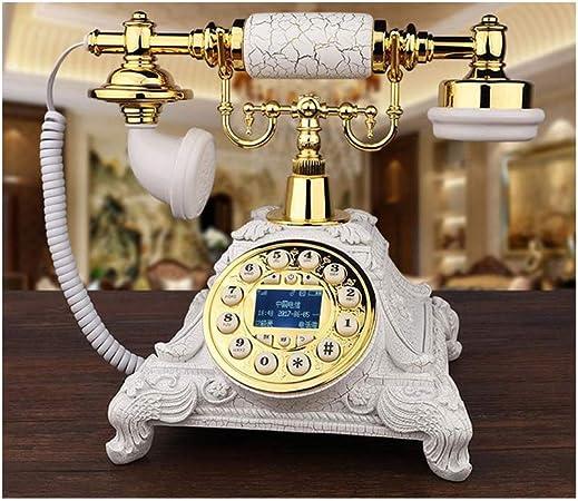 LYDIAMOON Arcaicas gsm 900, 1800 MHz Tarjeta SIM Telefono Fijo Retro Inalámbrico Casa Oficina Telefone Teléfono,Blanco: Amazon.es: Hogar
