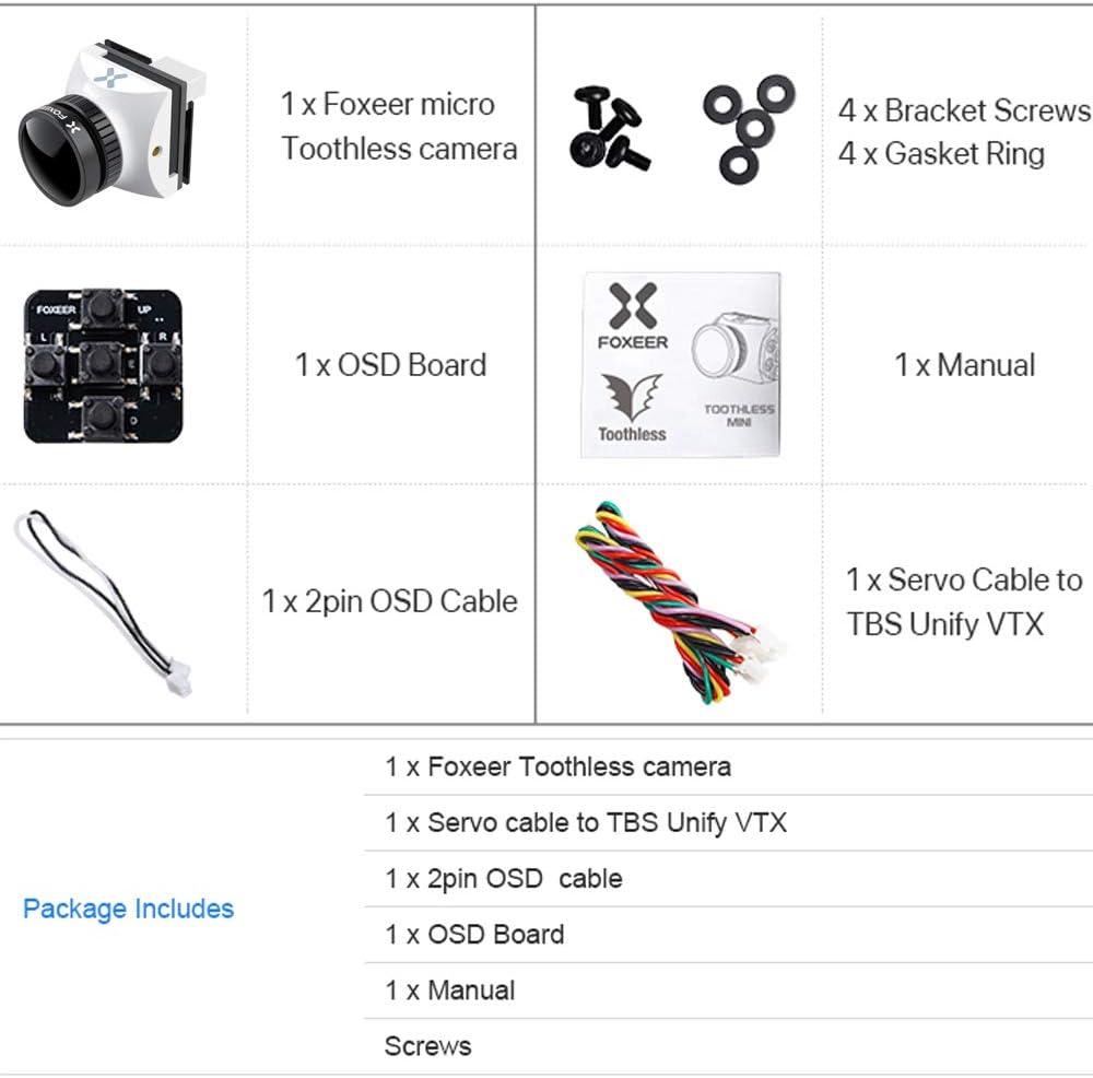Foxeer Razer Nano FPV Camera 1200TVL 1.8mm Lens 1/3inch CMOS Cam 4 ...