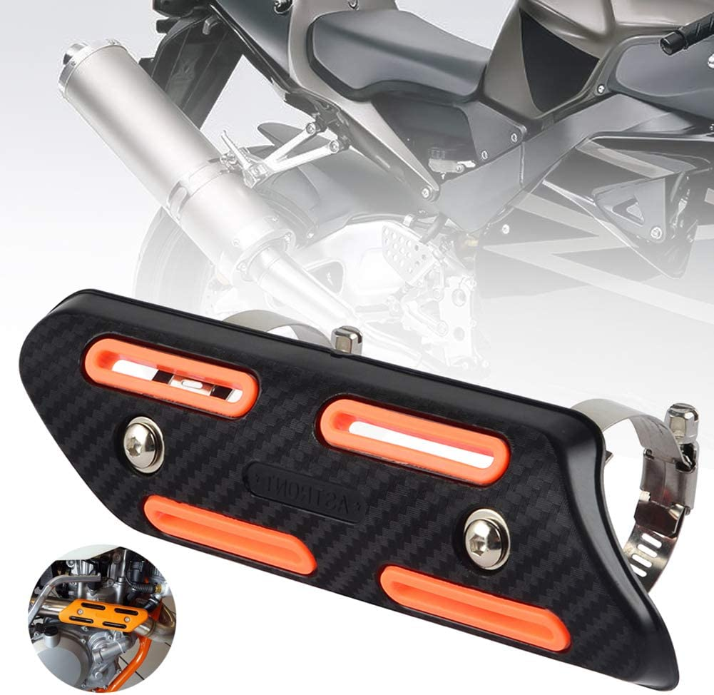 Blackzone Universal Motorcycle Motorbike Exhaust Pipe Heat Shield Cover Guard Protector Accessory Modified