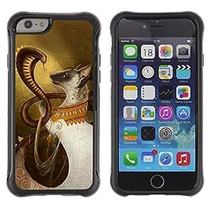 Hybrid Anti-Shock Defend Case for Apple iPhone 6 4.7 Inch / Cobra & Cat