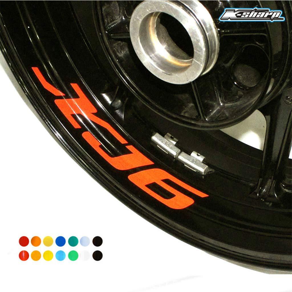 psler Moto Roues Jantes Int/érieur Autocollant pour Yamaha MT-07