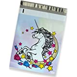 100 Pack of Mighty Gadget (R) Unicorn Fantasy Designer Poly Mailers - 10x13 inch Shipping Envelopes with 2.35 mil Thickness