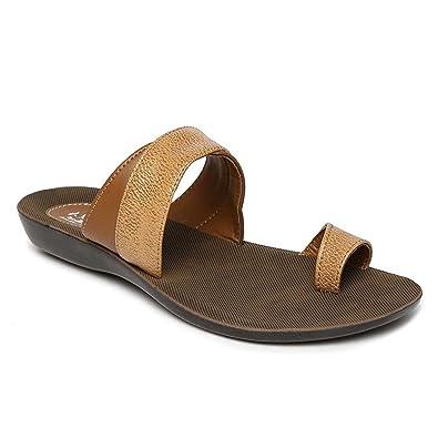 5bdb3cb16f73a PARAGON SOLEA Women s Brown Flip-Flops  Buy Online at Low Prices in India -  Amazon.in