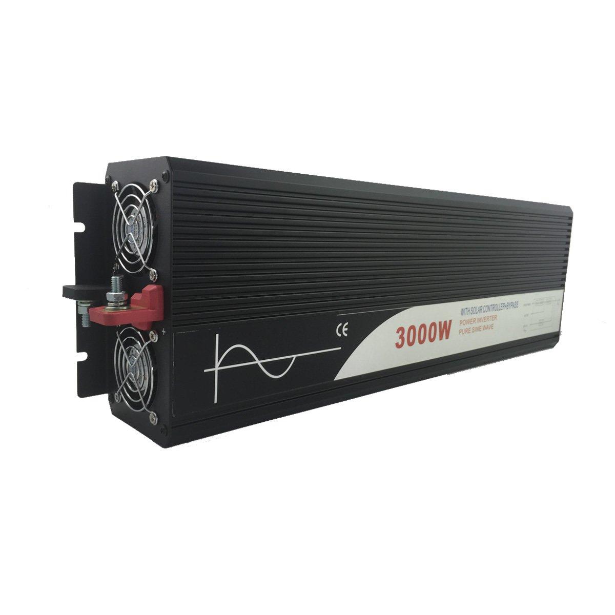 Xijia3000W (Peak 6000W) solar inverter PWM with bypassDC 12V 24V 48V to AC 120V 60HZ Solar converter For Home Use car (DC 24V to AC 120V)