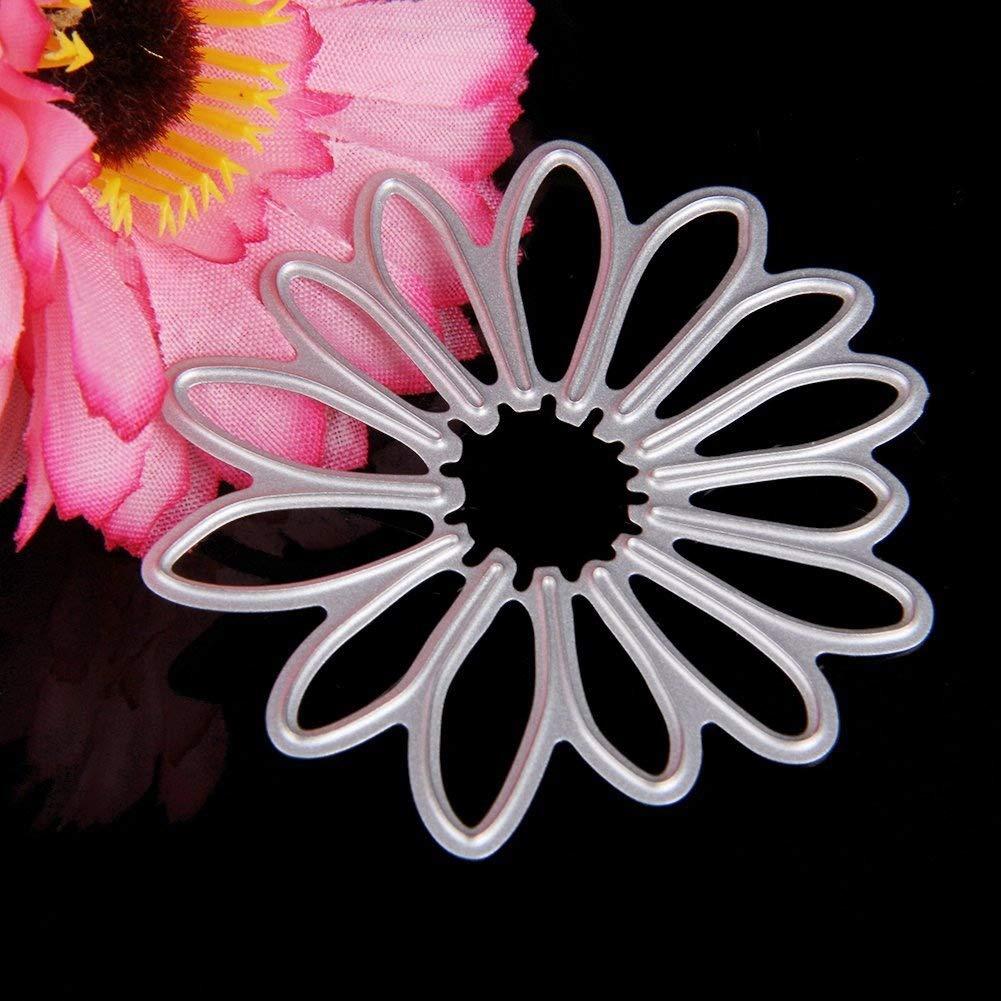 Delight eShop 6pcs Flowers Leaves Metal Cutting Dies Stencils Set For DIY Scrapbooking Photo Album Paper Card by Jugtech (Image #3)
