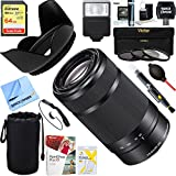 Sony 55-210mm Zoom E-Mount Lens Black (SEL55210/B) + 64GB Ultimate Filter & Flash Photography Bundle