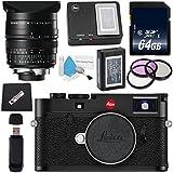 Leica M10 Digital Rangefinder Camera (Black) + Leica Summilux-M 24mm f/1.4 ASPH. Lens + 72mm 3 Piece Filter Kit + 64GB SDXC Card + Card Reader + MicroFiber Cloth Bundle