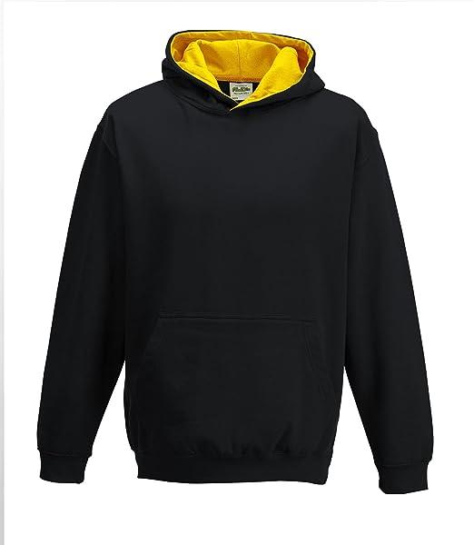 a13f3b16 Amazon.com: Just Hoods Kids Varsity Hoodie Jet Black/Gold: Clothing