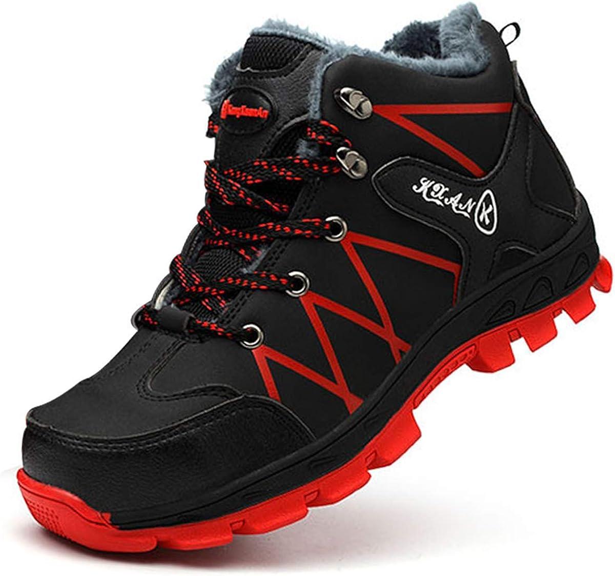 SROTER Mujer Hombre Invierno Botas de Seguridad Trabajo Zapatillas con Puntera de Acero Impermeables Botas de Nieve Zapatos de Trabajo Entrenador ...