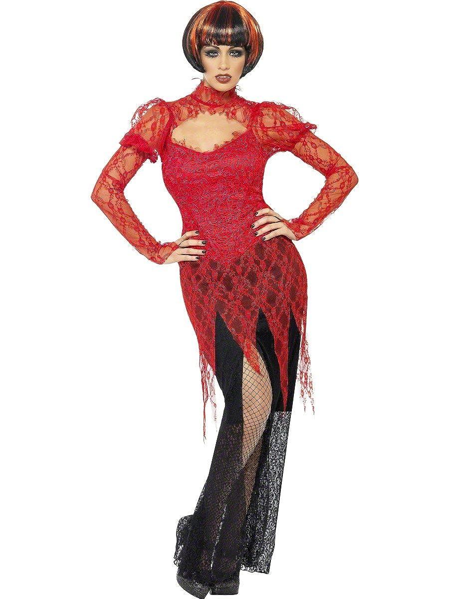 Disfraz Halloween Carnaval Mujer Vampiresa gotica Horror Smiffys ...