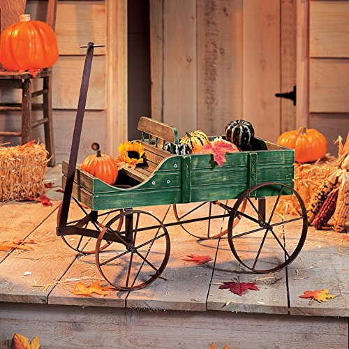 Collections Etc Amish Wagon Decorative Indoor/Outdoor Garden Backyard Planter, Green by Collections Etc (Image #5)