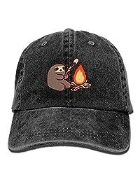Alility Caps Campfire Sloth Vintage Adjustable Cowboy Cap Baseball Cap ForAdult