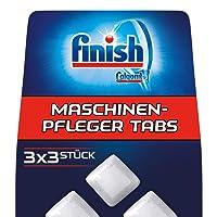 Finish Maschinenpfleger Spülmaschinentabs, 3er Pack (3 x 3 Stück)