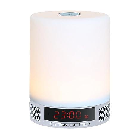 Kobwa Altavoz in LED nocturna BluetoothAll Dimmable luz 1 rdCWQxoeB