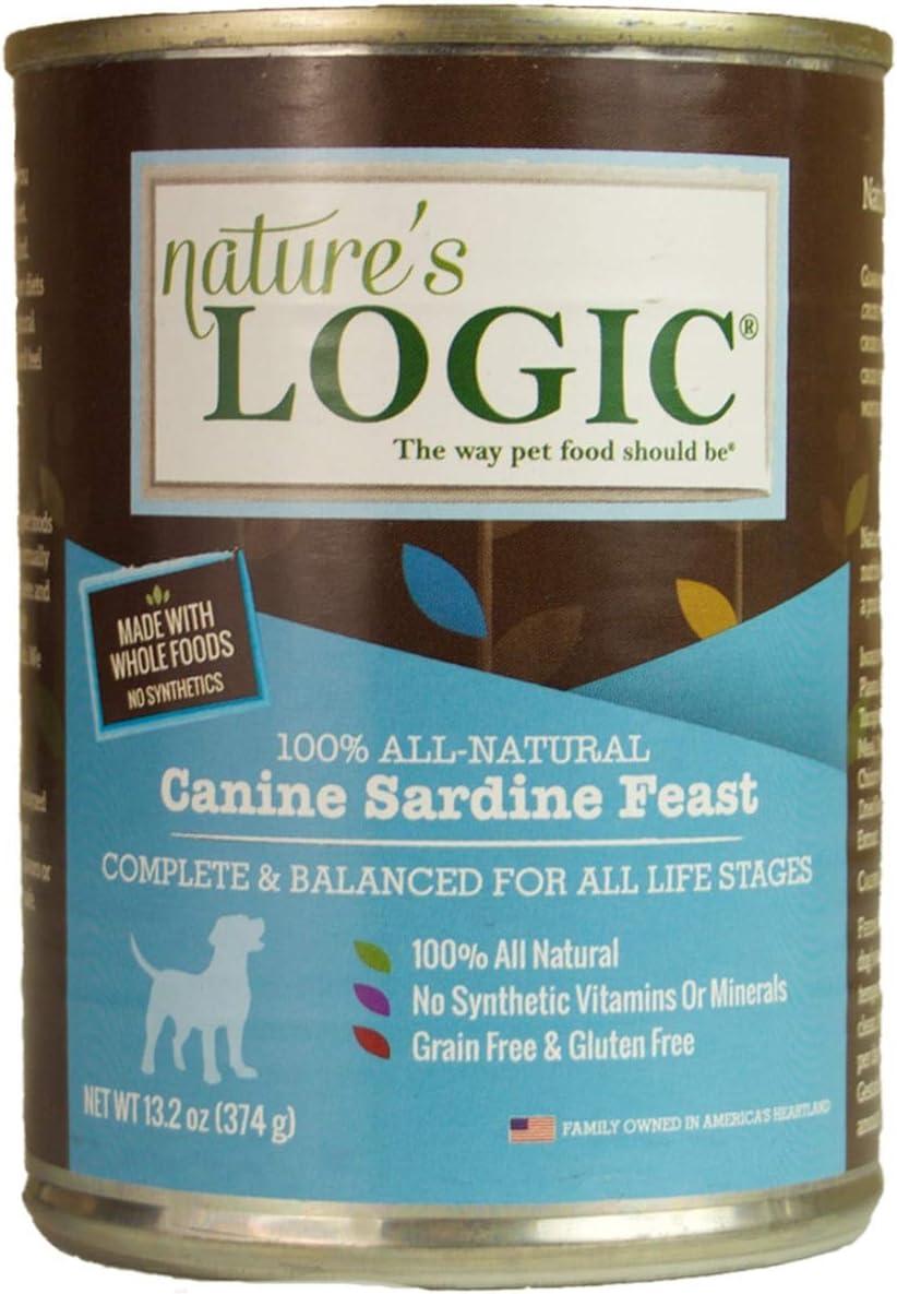 Nature'S Logic Natural Sardine Canned Dinner Fare Canine Formula 12/13.2 Oz.