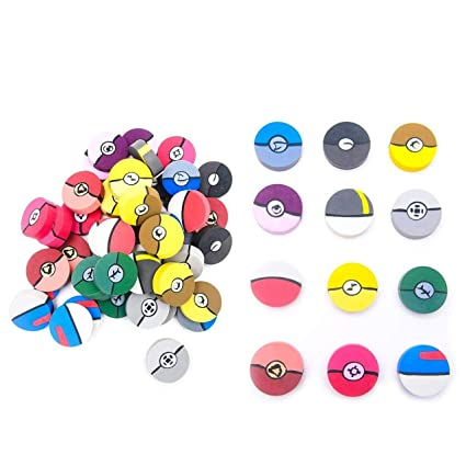 Amazon.com: 60 1-Inch Poke Ball Erasers for Kids - Pokemon ...