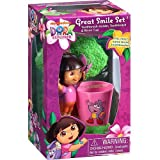 Dora the Explorer Great Smile Toothbrush Gift Set - Includes Toothbrush Holder, Toothbrush, & Rinse Cup