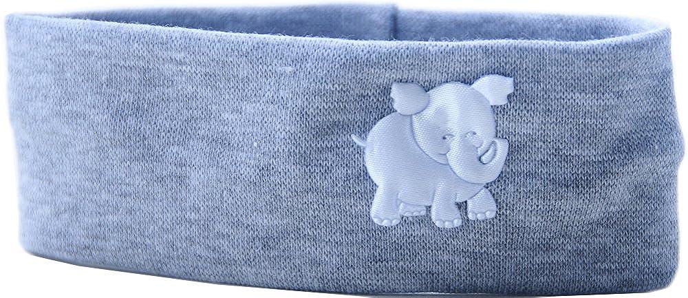 La Bortini Baby Kinder Haarband Stirnband Hairband Grau mit Elefant festlich sommerlich
