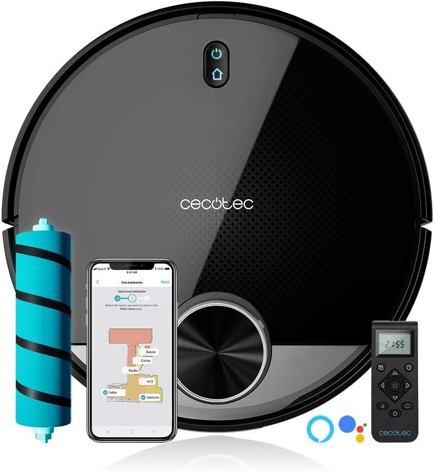 Cecotec Robot Aspirador Conga 3790. Tecnología láser, Room Plan, 2300 Pa, App, Cepillo Jalisco, Doble Tanque, Cepillo Especial Mascotas, Mando a Distancia: Amazon.es: Hogar