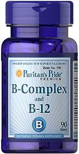 Puritan's Pride Vitamin B-Complex and Vitamin B-12-90 Tablets