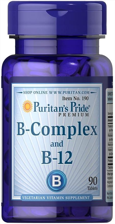 Vitamina B Complex y B 12 90 comprimidos. B12. 1 und.