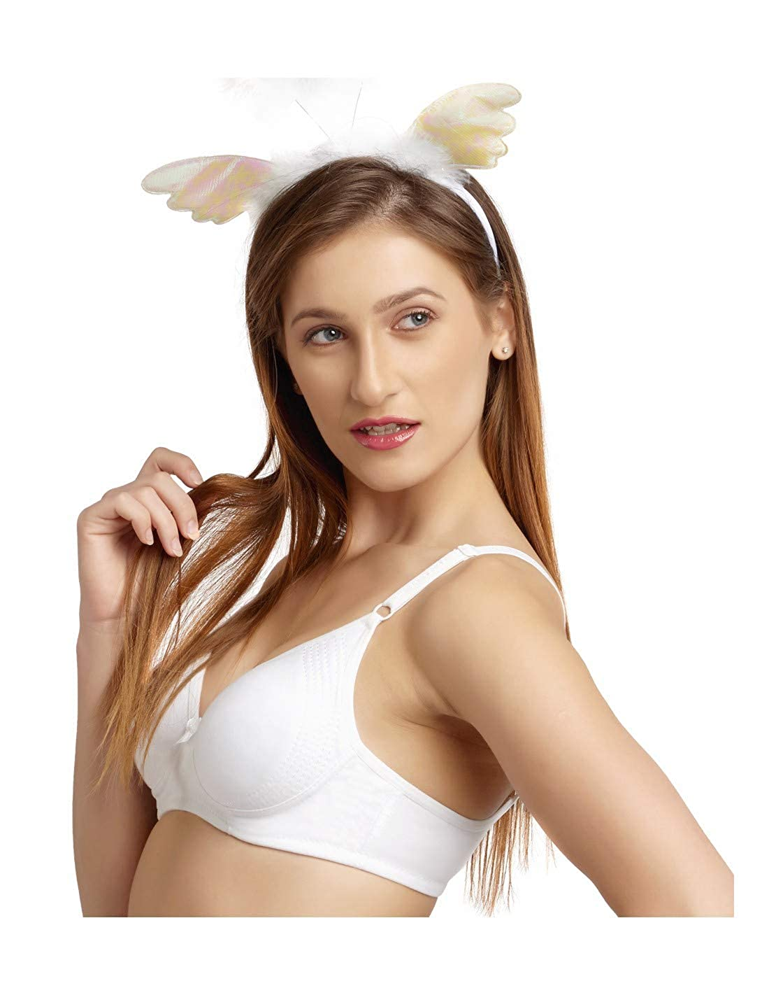 e8a89b56a1a68 DAISY DEE White Color Cotton Regular Straps Seamless Full Coverage Non  Padded T-Shirt Bra for Women - SUPERSHAPER Simply Smooth  Amazon.in   Clothing   ...