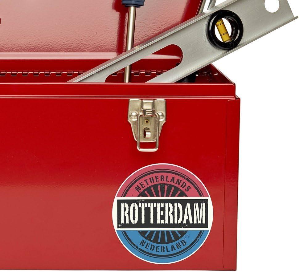 2 x 10cm//100 mm Rotterdam Pays-Bas Auto-adh/ésif Autocollant Vinyle Autocollant pour portable Assurance voiture signer Fun #6048