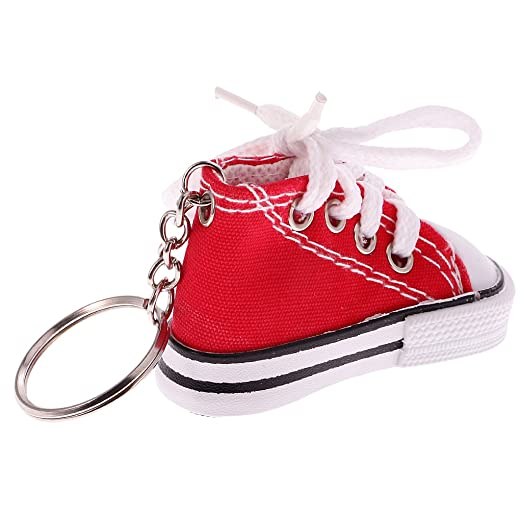 Juguetes Juegos Colgantes Llaveros Forma Zapato Lona Moda - Rojo