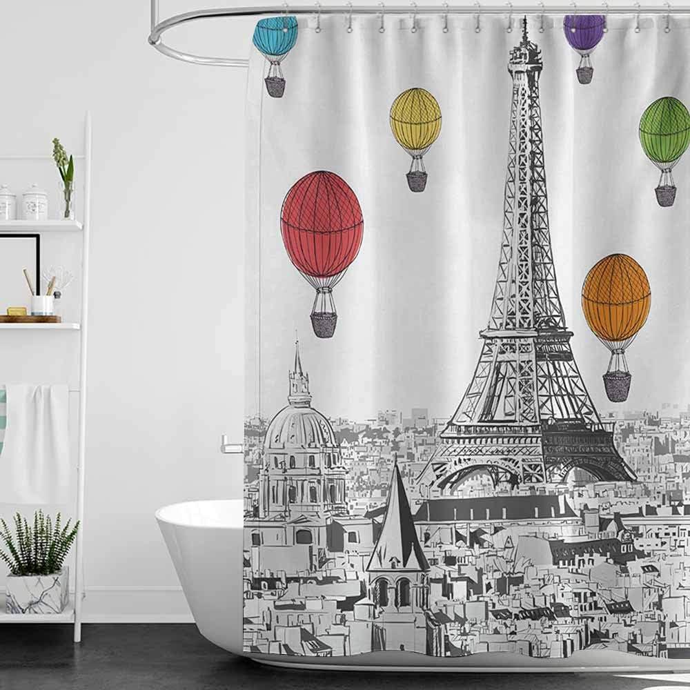 StarsART - Cortinas de Ducha de Color Morado Paris, Torre Eiffel ...