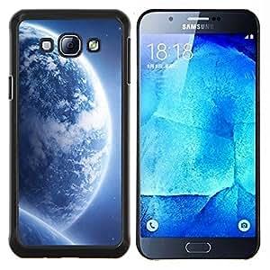 KLONGSHOP // Cubierta de piel con cierre a presión Shell trasero duro de goma Protección Caso - Espacio Planet Galaxy Estrellas 68 - Samsung Galaxy A8 A8000 //