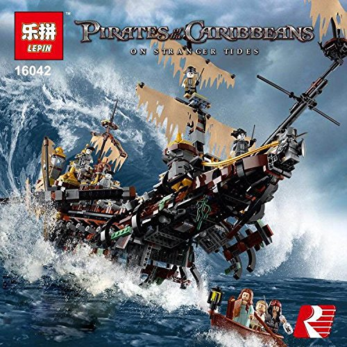 NEW Lepin 16016 3652Pcs Movies Series MOC Pirates of the Caribbean The Slient Mary Building Blocks Bricks Compatible to Children Gifts