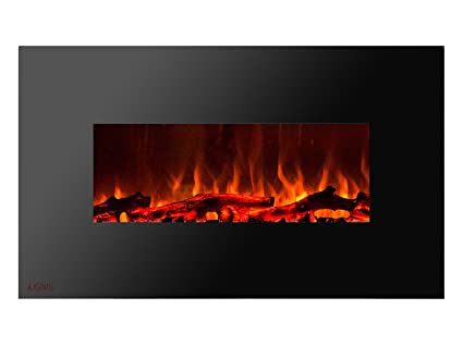 Amazon Com Ignis Royal 36 Inch Wall Mount Electric Fireplace With