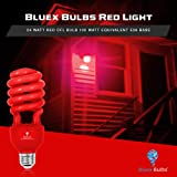 2 Pack BlueX CFL Red Light Bulb 24W - 100-Watt