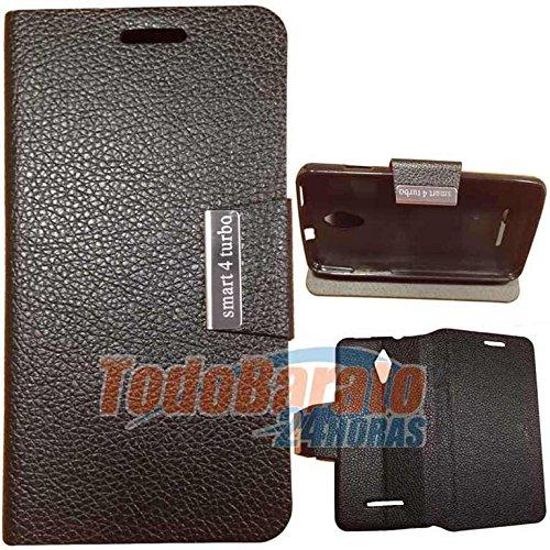 Todobarato24h Funda Negra Libro con Soporte para Alcatel Vodafone Smart 4 Turbo: Amazon.es: Electrónica