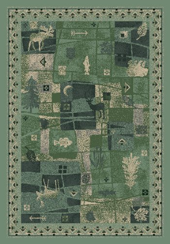 Signature Deer Trail Peridot Novelty Rug Rug Size: 5'4