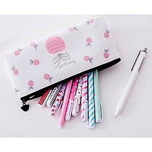 Cosanter Cosmetic Bag Toile Sac Crayon Cas pour étudiant Fourniture Scolaire Gris