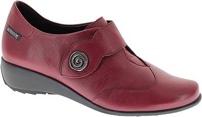 Chaussures Mephisto, chaussures de ville femme en cuir rouge