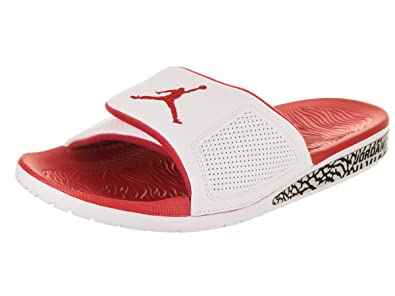 cdac099033b9 Image Unavailable. Image not available for. Color  Nike Men s Air Jordan  Hydro III Retro Slide White Fire Red ...