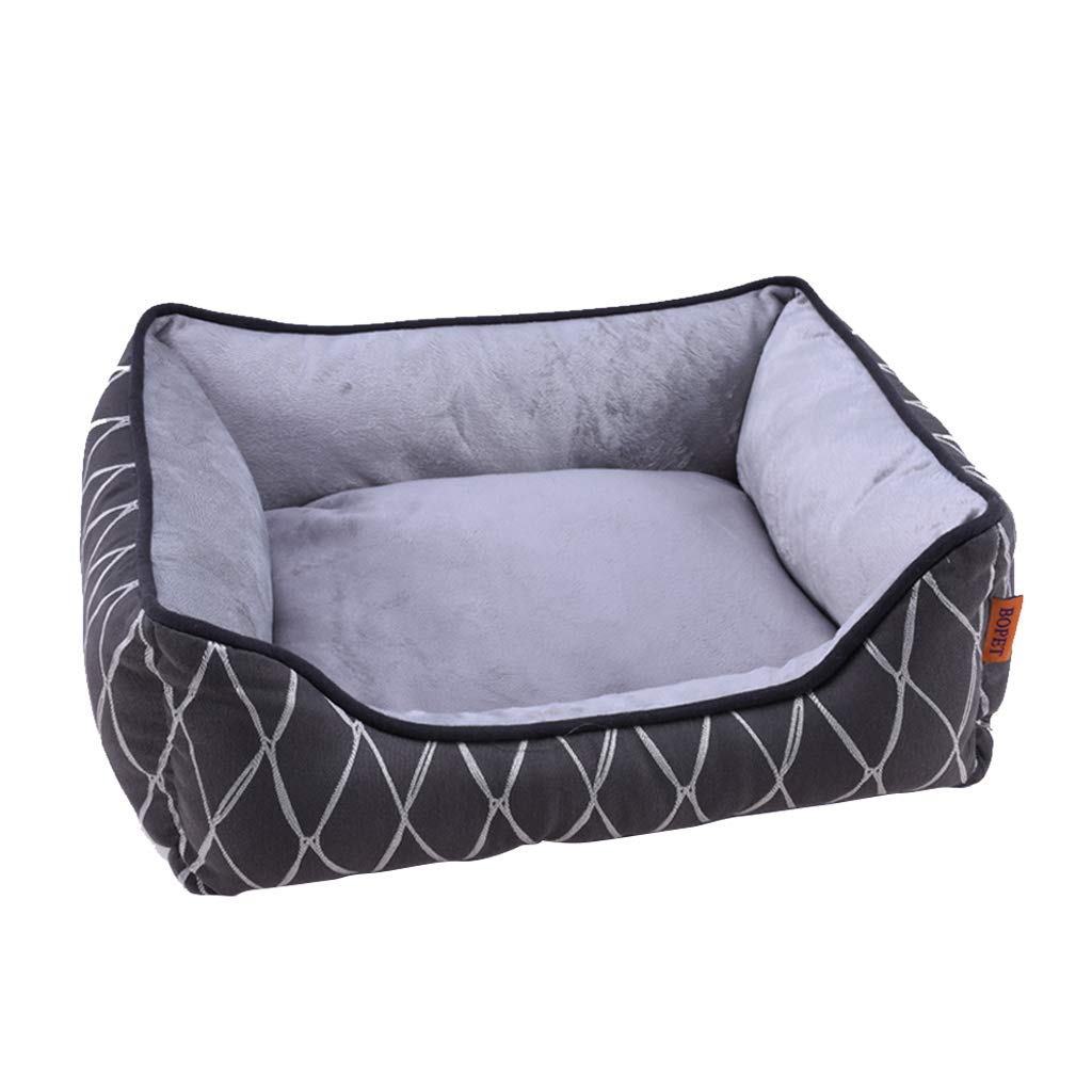 M YAN FEI Dog Bed,soft Warm Waterproof Washable Not Sticky Hair Pet Basket Mat Cushion Medium Large XL bluee Stripes Creative Pet Beds (Size   M)