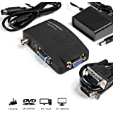 MakeTheOne PC VGA Convertisseur CCTV Caméra BNC S Video VGA to Ordinateur PC VGA Moniteur Convertisseur