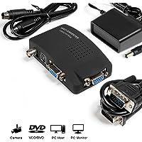 MakeTheOne CCTV Camera BNC S Video VGA to Laptop Computer PC VGA Monitor Converter Adapter Box