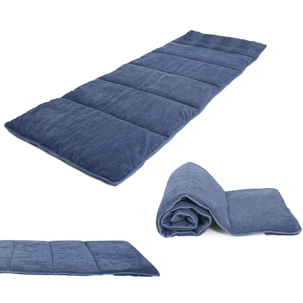 Niceway Natural Cotton Mattress Sleeping Pad for Portable Folding Bed Camping Cot Blue by Niceway