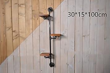 LOFT Wanddekoration Regal Retro Regal Plumbing Rack Küche Bracket Iron Pipe  Plank LOFT Wanddekoration Industrielle Dekoration