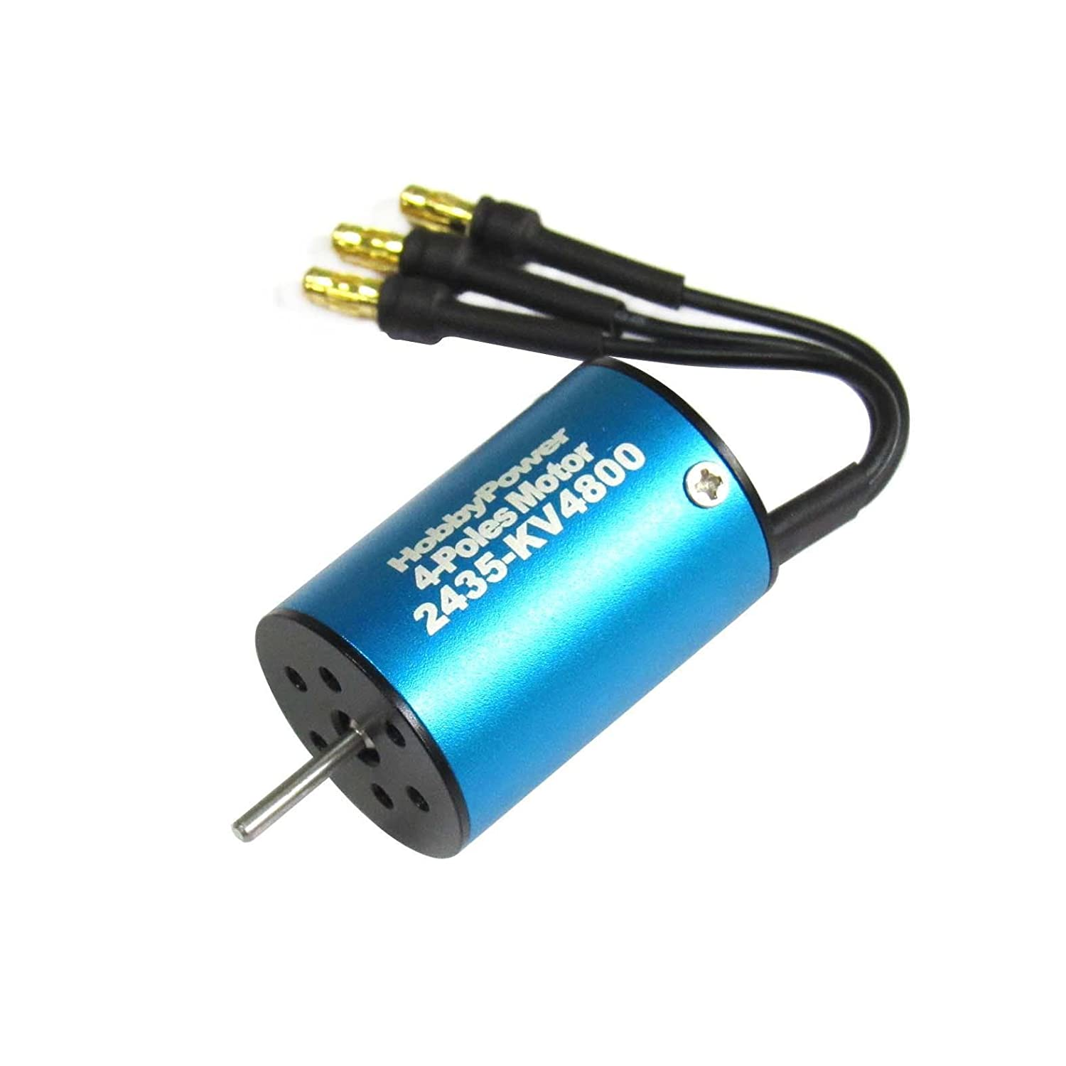Amazon.com: Hobbypower 2435 4800KV 4-Pole Brushless Motor for 1/18 1/16 RC  Car: Toys & Games