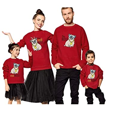 Akalnny Jersey Su/éter de Navidad Punto con Cuello Redondo Casual Manga Larga Navide/ños Su/éteres para la Familia Invierno