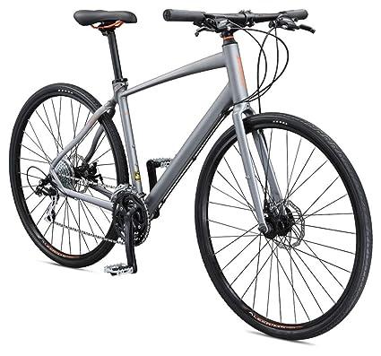 Schwinn Vantage F2 700c Sport Hybrid Road Bike with Flat Bar and Disc Brakes, 56cm/Medium Frame, Matte Grey best touring bikes